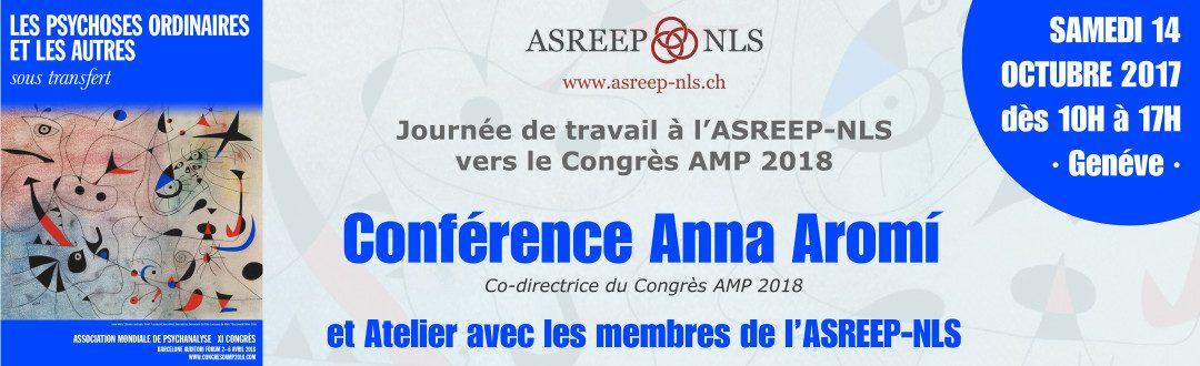 Conférence Anna Aromí | Journée de travail  à l'ASREEP-NLS vers le Congrès AMP 2018