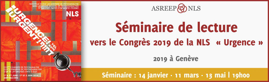 Séminaire de lecture vers le Congrès 2019 de la NLS  « Urgence »