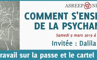 Comment S'Enseigne-t-on de la Psychanalyse ?