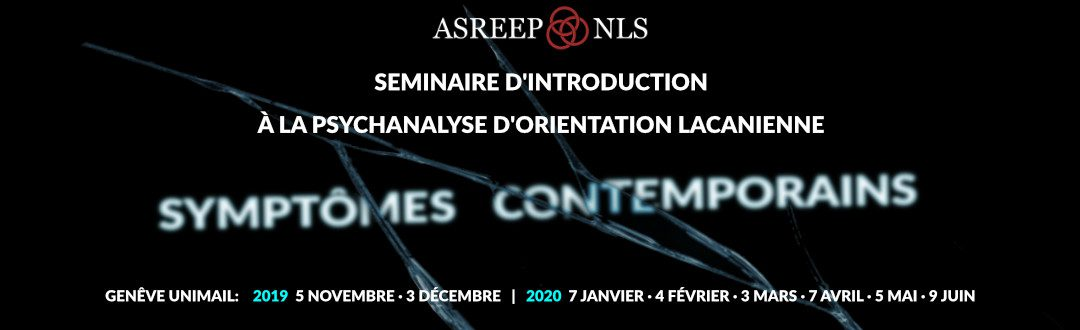 Séminaire d'introduction à la psychanalyse 2019-2020