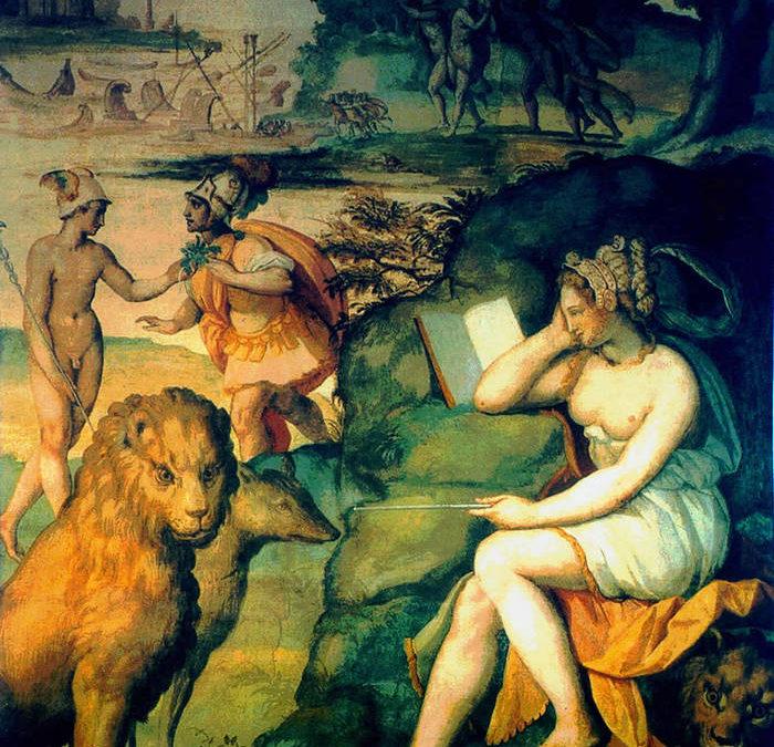 La magicienne Circé empoisonne les compagnons d'Ulysse Alessandro Allori, 1580