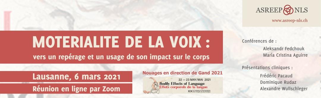 Conférence de María Cristina Aguirre dans le Séminaire Nouages « Moterialite de la voix »