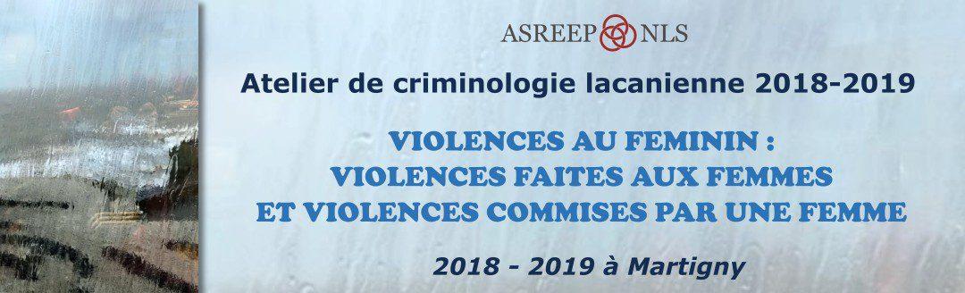 Atelier de criminologie lacanienne 2018-2019