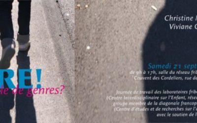 Laboratoire du CIEN à Fribourg : « GENRE! On se parle de genres? »
