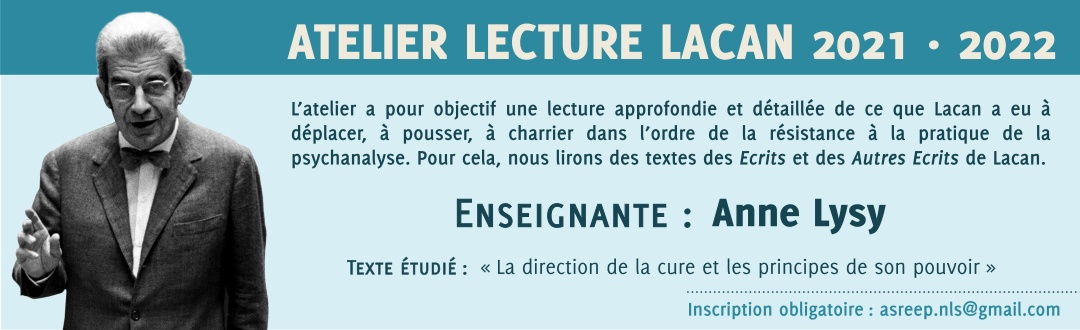 Atelier Lecture Lacan 2021-2022